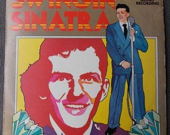 Finger Snapping FRANK SINATRA Swingin' Sinatra LP...Stereo Gold Award...Vintage Vinyl...Mono Recording...Swing Jazz...Compilation of Hits...