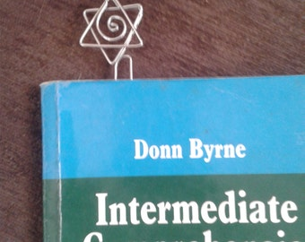 Free Shipping!!!-bookmarks-star of david  wire book mark metal bookmark gifts under 10 hand made