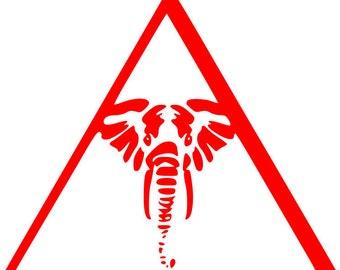 Delta Sigma Theta Elephant Triangle svg, delta sigma theta elephant, delta sigma svg, Greek sorority,  Sorority Delta Sigma, Greek letter