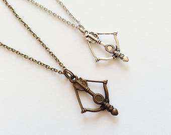 CROSSBOW Necklace Crossbow Jewelry Crossbow Gift Arrow Necklace Arrow Jewelry Arrow Gift Archer Necklace Archer Gift Bowman Gift Jewelry