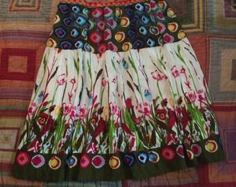 Boho Spring Flower Skirt