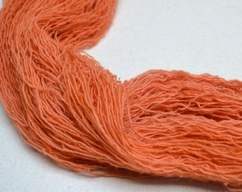 Naturally Dyed Lace Yarn Norne - coral