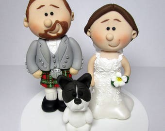 Scottish Bride and Groom Wedding Cake Topper    Personalised Novelty Topper   Handmade Mini TopperDrunk Bride   Groom Wedding Cake Topper Personalised. Novelty Wedding Cake Toppers. Home Design Ideas