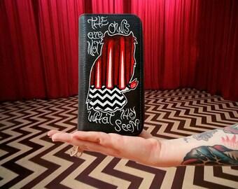 Handpainted vegan wallet Twin Peaks Anniversary - Redroom