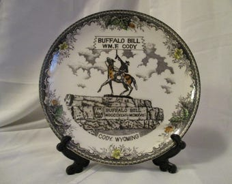 Vintage Buffalo Bill William F Cody Wyoming Decorative collectible plate