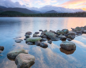 Loch Morlich Sunset - Cairngorms - Highlands - Scotland - Landscape - Fine Art Print
