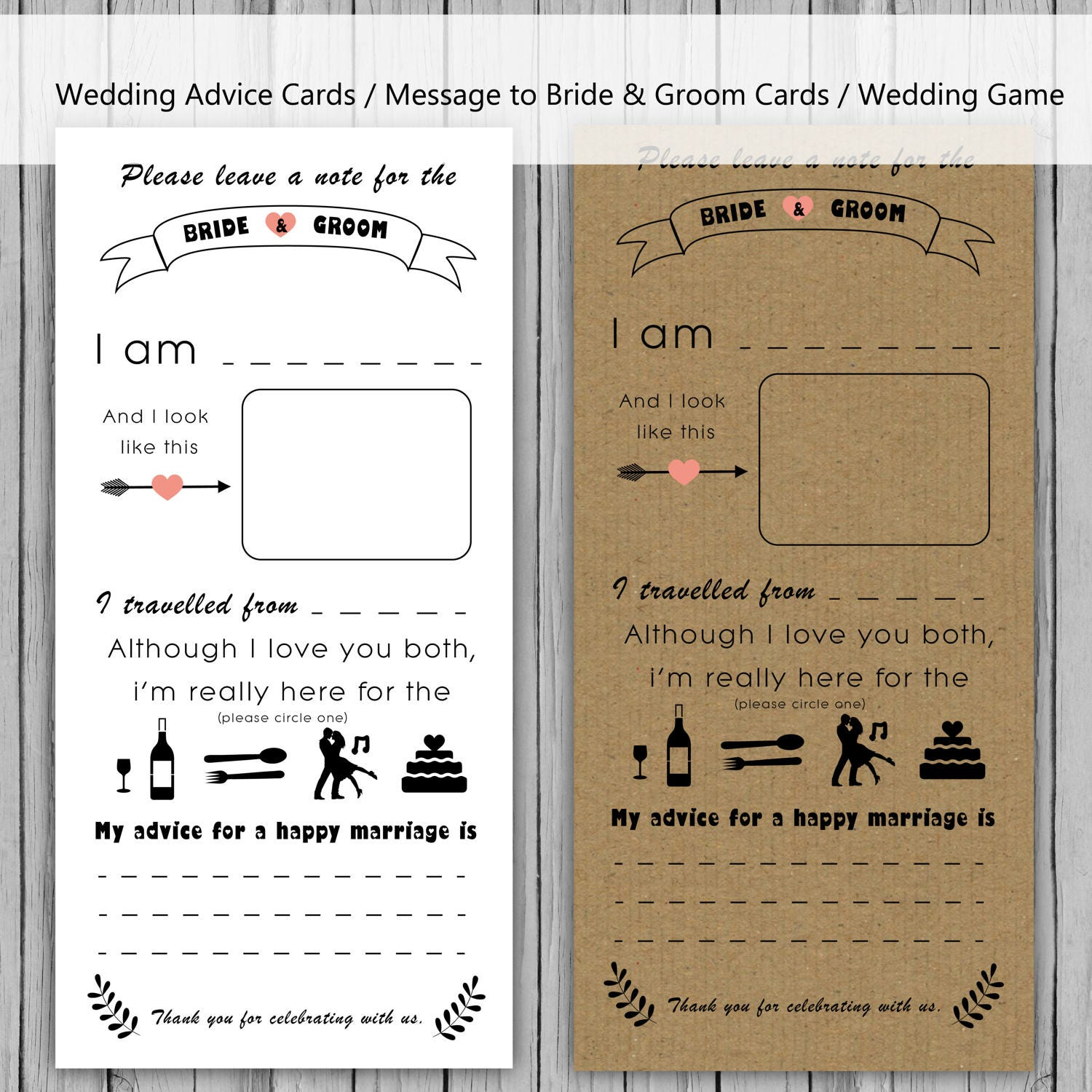 Wedding Advice: Wedding Advice Card Message To Bride And Groom Cards Note To
