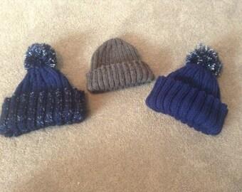Handmade Knit Beanie, Winter Hat, Men's Women's Beanie