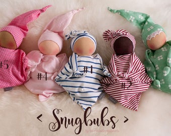 Just two left! Snugbubs - cuddle dolls by Down Under Waldorfs, Waldorfs dolls, ECO toys, handmade toys, natural dolls