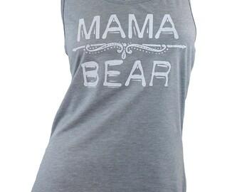 mama bear tank, mama bear shirt, mamma bear, graphic tees for women, womens tops and tees, gift for wife, gift for mother, mamma bear shirt
