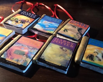 Handmade Clay Harry Potter Book Ornaments