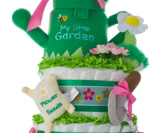Lil' Garden Diaper Cake by Lil' Baby Cakes