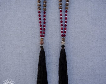 Mala Necklace | 108 Prayer Beads | Japa Mala | Wood Mala | Buddhist Mala | Tassel Necklace | Yoga Necklace | Meditation Necklace