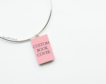 Custom Miniature Book Adjustable Wire Bangle