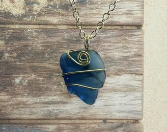 Ocean Jewelry - Sea Glass Jewelry – Beach Glass Jewelry – Seaglass Jewelry - Beach Vacation - Spring Break - Blue Sea Glass - Beach Jewelry