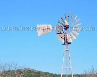 Photograph of windmill red