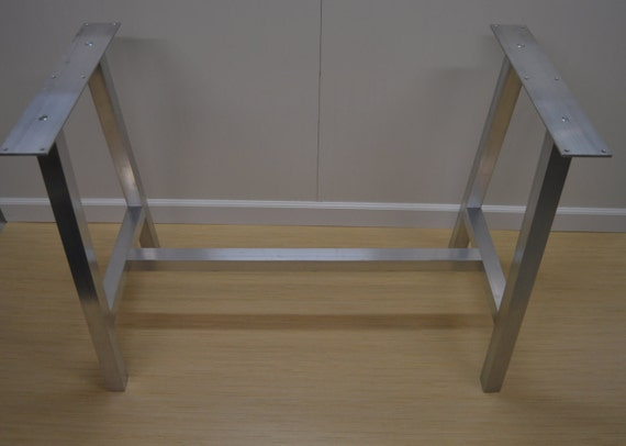 The best metal table legs 2 square brace add on for Square iron table legs