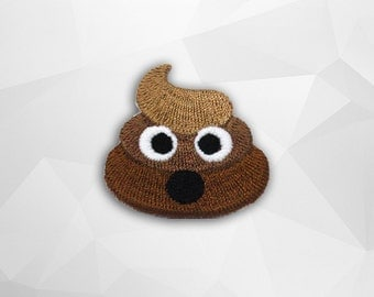 Poop Emoji Iron on Patch(S1) - Cartoon Applique Embroidered Iron on Patch -Size 3.6x3.6 cm