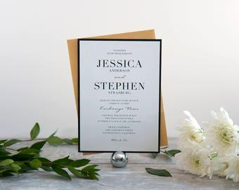 Black Tie Wedding Invitation, Deposit to Get Started