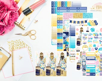Summer Adventure Kit | Summer Stickers | Weekly Kit | Travel Kit | Planner Stickers designed for use with the Erin Condren Life Planner