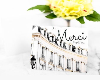 Thank You Card Set of 10, Blank Notecards, Paris Stationery, Photography Cards, French Thank You Card, Paris Cards, Wedding Notecard