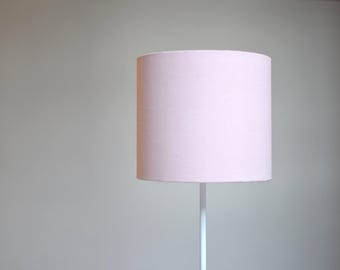 Pale pink lampshade, light pink home decor, baby pink decor, solid pink lamp shade, pink table lamp, handmade lamp shade, plain lampshade