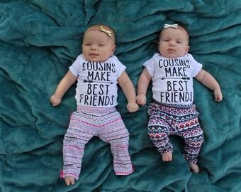 Cousins Make Best Friends Onesie, Toddler Shirt
