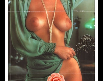 "Mature Playboy December 1978 : Playmate Centerfold Janet Quist 3 Page Spread Photo Wall Art Decor 11"" x 23"""