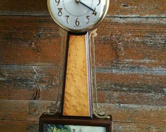 Vintage Sessions Battery Operated Banjo Clock,  Mount Vernon Wall Clock, 1930's Banjo Clock Model 2W