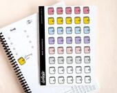 Kawaii Planner stickers - 40 functional planner stickers, planning time, planning days, cute planners, kikki k planners, erin condren