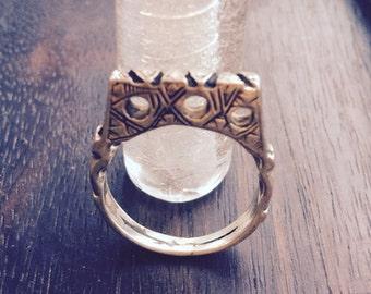 Lovely silver ring - Tuareg design - handmade in Cairo