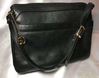 Giani Bernini Black Leather Purse; bernini, giani bernini, black leather purse