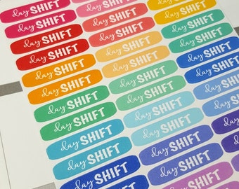 Day Shift | Rainbow variety | Planner stickers  (#034)
