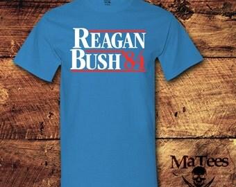 Ronald Reagan, Reagan Bush 84, Reagan, Reagan Bush, Reagan Shirt, Ronald Reagan Shirt, Reagan Youth, Iron Reagan, T-Shirt, Shirt, Tee