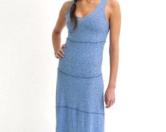 Linen Tank, Linen Dress, Linen Clothing, Everyday Dress, Blue Dress, Long Maxi Dress, Beach Kaftan, Elegant Dress, Gypsy Dress, Boho Caftan
