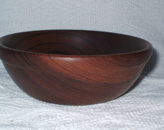 Hand turned wooden bowl # 33
