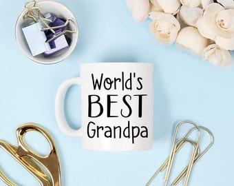 World's best grandpa mug, worlds best grandpa, grandpa mug, grandpa mugs, father's day mug, fathers day coffee mug, coffee mug