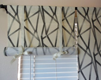 Tie Up Curtain Roll Up Shade Swedish Roll Up Shade Stagecoach Blinds French  Door Curtains Tie