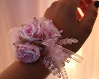 Pink Corsage and Boutonniere Set
