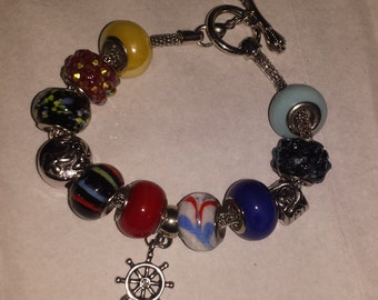 Sailor/Ocean themed charm bracelet