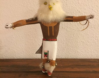"Vintage Native American Handcrafted Kachina Doll/ Measures: 12"" Tall"