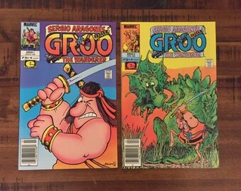 1985 Groo The Wanderer #1 and #2 Comic Books/ Sergio Aragones/ Marvel Comics/ NM-VF/ J/ Choose One or Both for a Discounted Price!