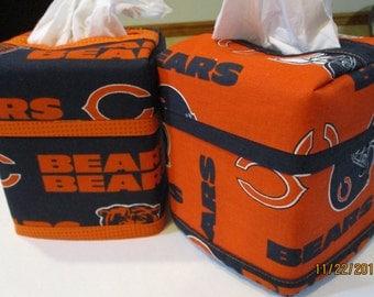 Chicago Bears NFL Kleenex Tissue Cover - Blue or Orange