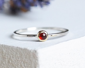 Sterling Silver Ring, Garnet Ring, 9ct Garnet Ring, Gold Ring, Stacking Ring, January Birthstone, 9ct Gold, Birthstone Ring, Garnet Jewelry