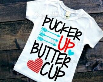 Pucker up Buttercup, Valentines Shirt, Valentines Day shirt, boys valentines shirt, trendy boys shirt, pucker up buttercup boys shirt