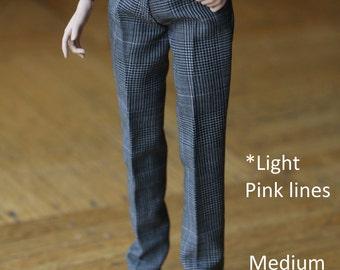 Handmade Ken doll clothes - GREY dress pants