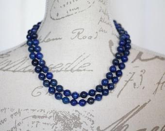 Lapis necklace / long necklace Lapis Lazuli / Long blue necklace / long  lapis lazuli necklace