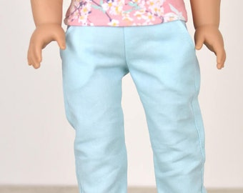 Denim Jeans 18 inch doll clothes Color Aqua