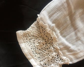 Edwardian gauze blouse | 1910s cotton lawn blouse | Antique Irish lace