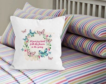 Floral pillow cases, throw pillows, summer quotes,  flower pillow case, accent pillows, decorative pillows, decorative pillow
